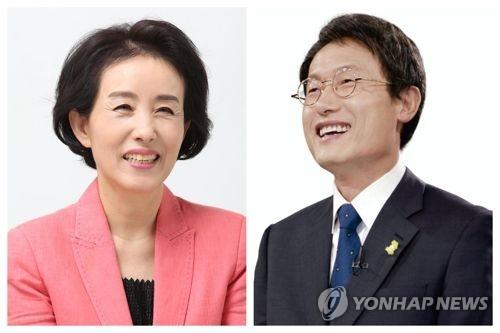 조희연 후보(오른쪽)와 박선영 후보